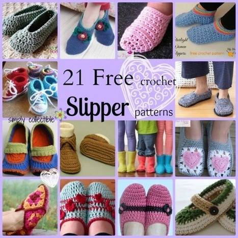 Choose from 21 Awesome Free Slipper Crochet Patterns - Simply Collectible | Free crochet patterns and tutorials | Scoop.it
