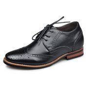 Black / Brown Men Height Inceasing Dress Shoes look taller 7cm / 2.75inch | Elevator shoes for men | Scoop.it