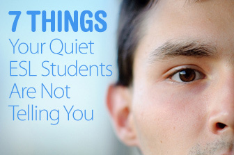 7 Things your quiet ESL students are not telling you | busyteacher.org | EFL-ESL &  ELT | Learning, Teaching, Education | Scoop.it