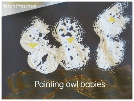 Painting owl babies | Teach Preschool | Teach Preschool | Scoop.it