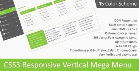 CSS3 Responsive Vertical Mega Menu (Navigation and Menus) | Front-end Development Articles | Scoop.it