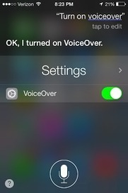 Assistive Technology Blog: New in iOS 7: Ask Siri to Turn on VoiceOver and other Accessibility Settings   Assistive Technology   Scoop.it