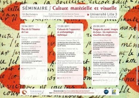 Séminaire Culture Matérielle et Visuelle | Culture Visuelle | Kiosque du monde : A la une | Scoop.it
