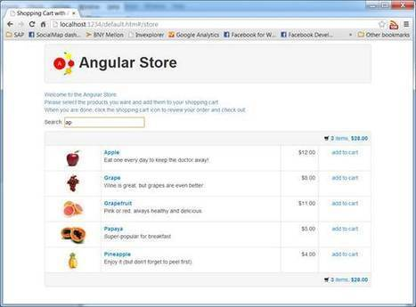 A Shopping Cart Application Built with AngularJS - CodeProject | Next Web App | Scoop.it