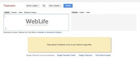 Google Traduction : Traduire un site internet par glisser-déposer - WebLife | INFORMATIQUE SITE INTERNET | Scoop.it