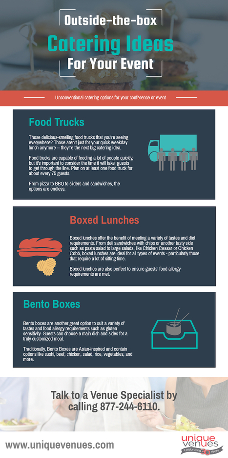 Outside-the-Box Catering Ideas for Your Event | Unique Venues | Scoop.it