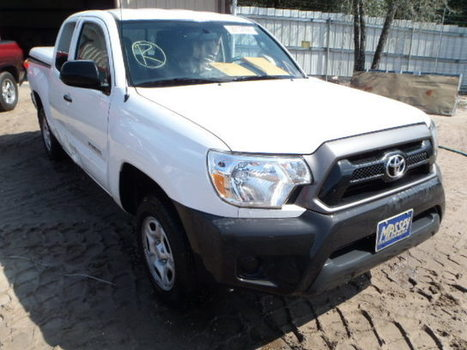 Salvage 2012 white Toyota Tacoma Acc with VIN 5TFTX4CN9CX021707 on auction | VEHICLES on Auction | Scoop.it