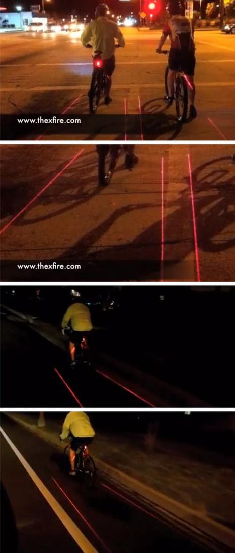 Produto projeta luz dividindo espaço entre o ciclista e os carros | esportes | Scoop.it