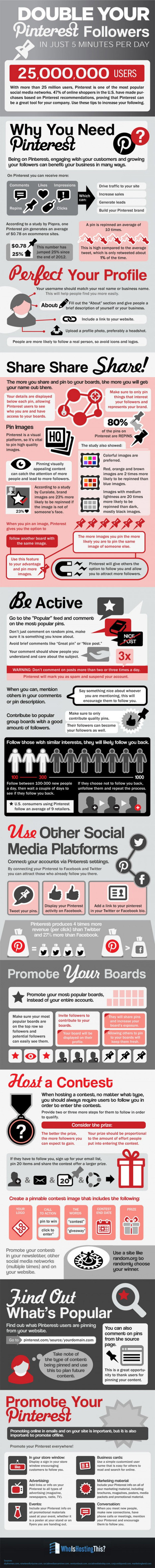 How You Can Get More Pinterest Followers (Infographic) | Commentrix | Scoop.it