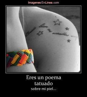 Eres un poema tatuado sobre mi piel.. | Amantes a los Tatuajes | Scoop.it