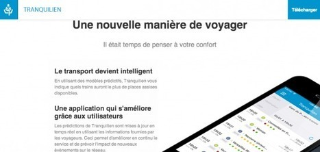Big data au service du confort du voyageur avec Tranquilien - Etourisme.info | Mémoire | Scoop.it