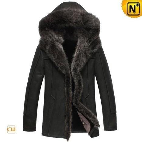 CWMALLS® Fur Jacket with Hood CW851337 | Fur Lined Mens Coat | Scoop.it