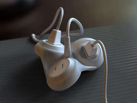 Undulating Power Cords - The Extension Plug by Youngkwang Cho Contorts When in Use (TrendHunter.com) | Designer | Scoop.it