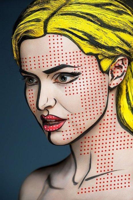 2D or not 2D ? les magnifiques visages maquillés de Valeriya Kutsan | ART's news | Scoop.it
