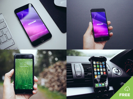 8 Natural iPhone Mockups | Free Download | PSD Mobile User Interface | Scoop.it