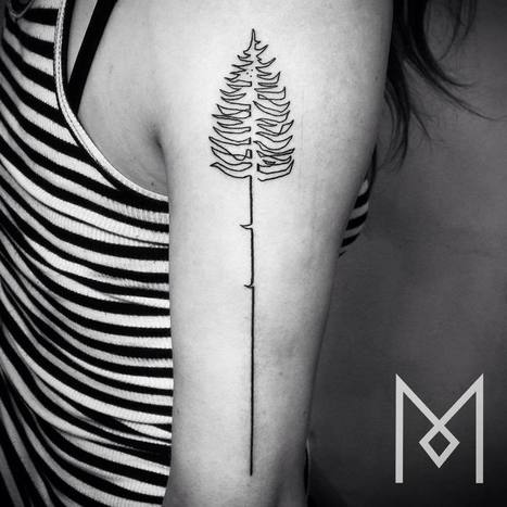 One Continuous Line Tattoos By Iranian-German Artist Mo Ganji | Beautiful Things | Scoop.it