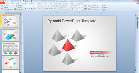 Free 3D Pyramid Template for PowerPoint Presentations | PowerPoint Presentation | smile | Scoop.it