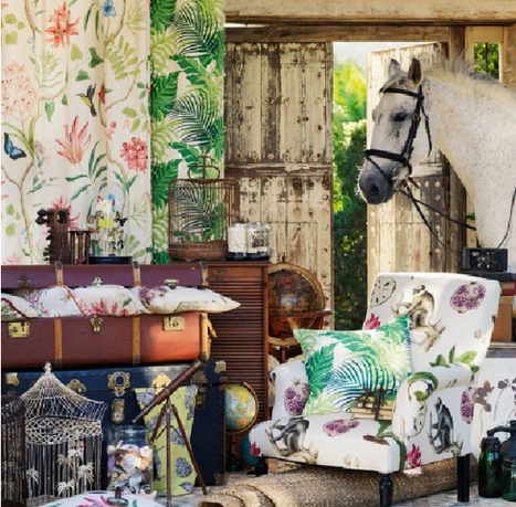 TM-Interiors » Sanderson fabrics Voyage Of Discovery in 2014 | Interior Design Products | Scoop.it