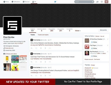 An overview of the new Twitter profile layout (Infographic) | Digital Brand Marketing | Scoop.it