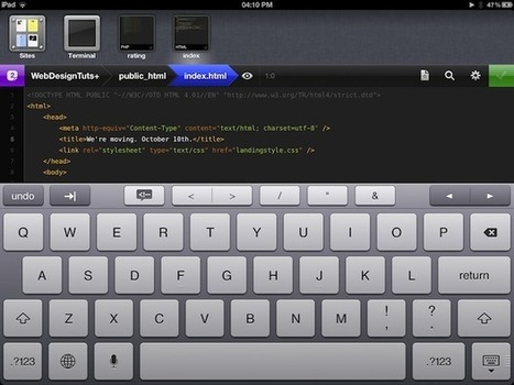 Build a Complete Website. On an iPad.   Webdesigntuts+   Learning Web Design   Scoop.it