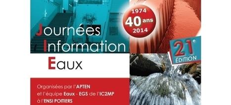 21ème édition des Journées Information Eaux (JIE), du 4 au 6 novembre 2014 à Poitiers   Le flux d'Infogreen.lu   Scoop.it