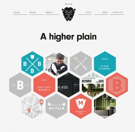 12 Examples of Flat Web Design Inspire ~ Creative Market Blog | Fashion Journalism | Scoop.it