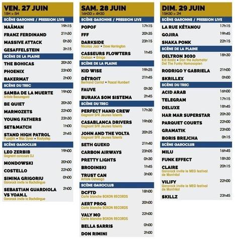 """Garorock : """"Ça part en live"""", de nouveau à Marmande !   Bordeaux Gazette   Scoop.it"""