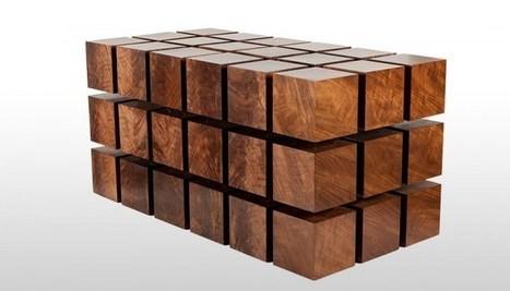Une table en cubes de bois magnétiques (vidéo)   Actu de la production forestiere française par François ROUSSELIN   Scoop.it