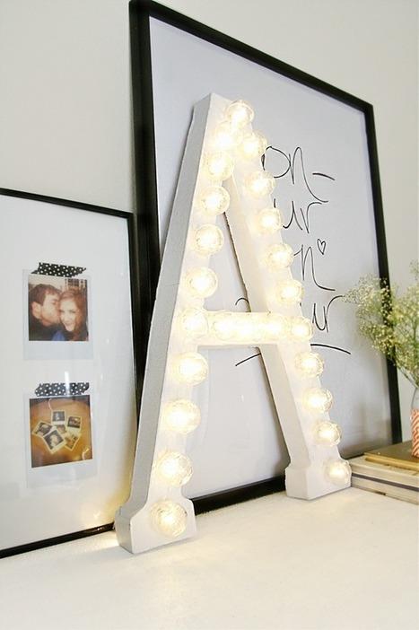 { DIY } De grandes lettres lumineuses…en carton ! | décoration & déco | Scoop.it