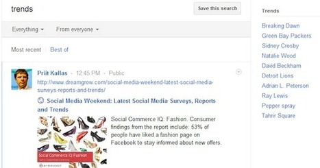 Google+ Adds Trends, Filtering to Search | GooglePlus Expertise | Scoop.it