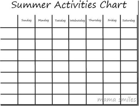 Summer Boredom Busters: Kids Activities Chart - Mama Smiles - Joyful Parenting | Raising Children | Scoop.it