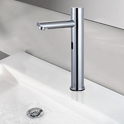 Contemporary Chrome Finish Brass Sensor Bathroom Sink Faucet - Faucetsmall.com | Bathroom Sink Faucets or Kitchen Faucets | Scoop.it