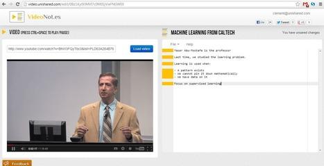 VideoNotes. Prendre des notes en regardant une video   Co-construire des savoirs   Scoop.it