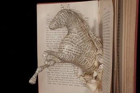Bookmarking Book Art - Emma Taylor   Books On Books   Scoop.it