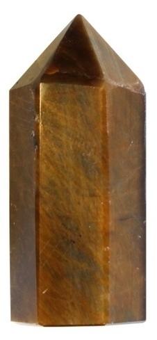 Pointe Polie Hexagonale Oeil de Tigre - 3,5 cm - Lot de 3 | Boutique en ligne Sentiers du bien-être | Scoop.it