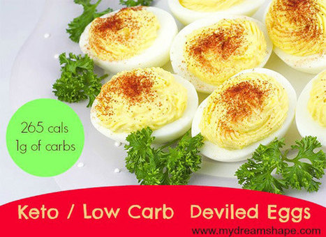 Keto Deviled Eggs – Low Carb | My Dream Shape! | Fitness | Scoop.it