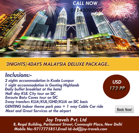 Malaysia holiday package-Malaysia tour package-malaysia travel package at joy travels | Malaysia Tour Packages from India | Scoop.it