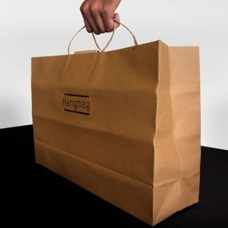 Paper Bags Transform Into Durable Clothing Hangers [Video] - PSFK | ecocuriosidades | Scoop.it