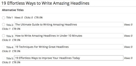 19 Effortless Ways to Write Amazing Headlines - Venture Harbour | Content and Curation for Nonprofits | Scoop.it