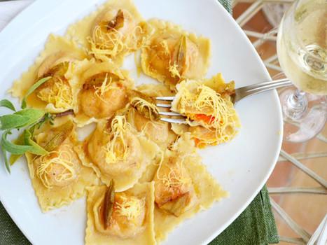 Butternut Squash Ravioli With Sage Butter | Healthy Eating - Recipes, Food News | Scoop.it