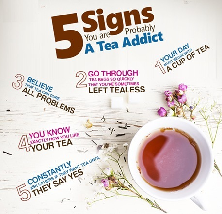 5 Signs of a Tea Addict. ‪ | Beveragewala - Buy Tea & Coffee Online! | Scoop.it