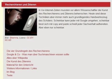 Unterrichtsmodul:  Recherchieren und Zitieren | recherche | Scoop.it