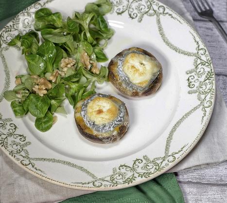 Champignons farcis à la purée de butternut et Sainte-Maure de Touraine - Et si c'était bon...   Chef, à table !   Scoop.it