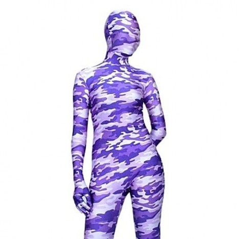 Light Purple Camouflage Costume|Camouflage Full Body Zentai Costume|Light Purple Camouflage Full Body Zentai Cosplay Costume | Zentai Suits Cosplay | Scoop.it