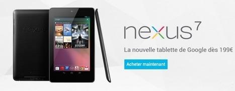 La Nexus 7 est disponible à partir de 199 euros sur le Google Play   Gotta see it   Scoop.it