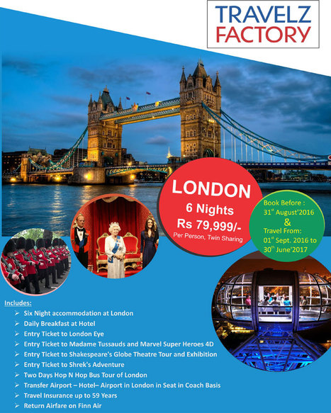 London-Paris Tour holiday packages from Delhi | International Travel Agents in Delhi | Scoop.it