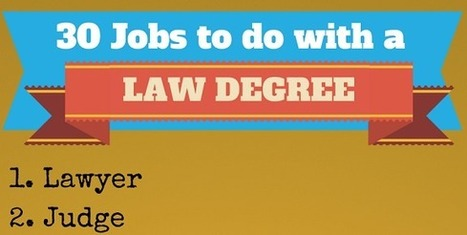 30 Things You Can Do With A Law Degree | Nebraska and National Legal and Other News | Scoop.it