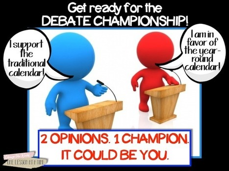 One Lesson at a Time: Persuasive Writing: The Debate Championship | common core practitioner | Scoop.it