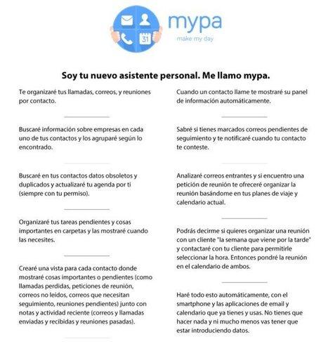 mypa, un nuevo asistente para android y iOS | Educacion, ecologia y TIC | Scoop.it