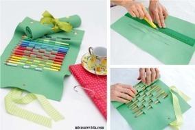 Μια όμορφη και πρακτική θήκη για τις ξυλομπογιές! | Creating and learning with children | Scoop.it